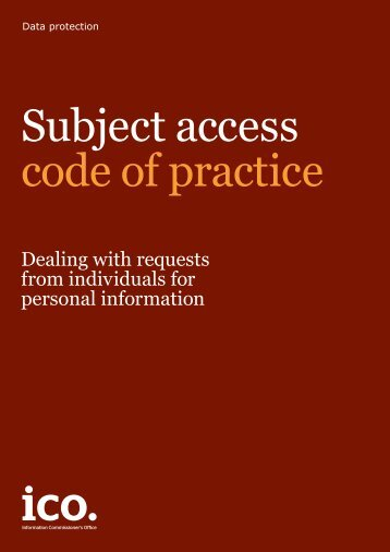 subject-access-code-of-practice