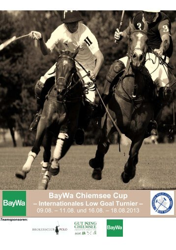 Dowload Ausschreibung Chiemsee Cup - Polo Club Chiemsee