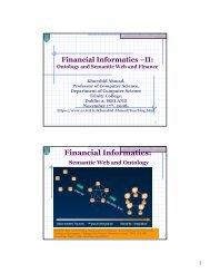 Financial Informatics Ontology - Trinity College Dublin