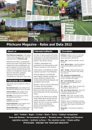 Pitchcare Magazine - Rates and Data 2012