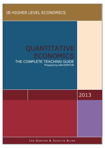 QUANTITATIVE ECONOMICS
