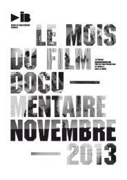 Plaquette de présentation - Le Mois du Film Documentaire