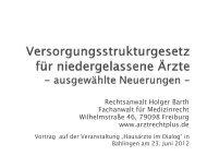 Vortrag von RA Holger Barth zum GKV-VStG - Rechtsanwalt Holger ...