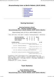 Braunschweig Lions vs Berlin Rebels (18.07.2010) - NewYorker Lions