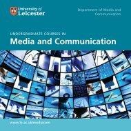 Undergraduate Brochure - University of Leicester
