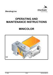 OPERATING AND MAINTENANCE INSTRUCTIONS MINICOLOR