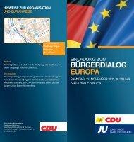 Einladung Bürgerdialog Europa - CDU Baden-Württemberg