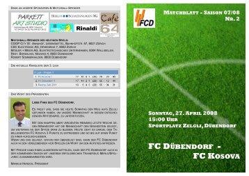 FC DÜBENDORF - FC KOSOVA