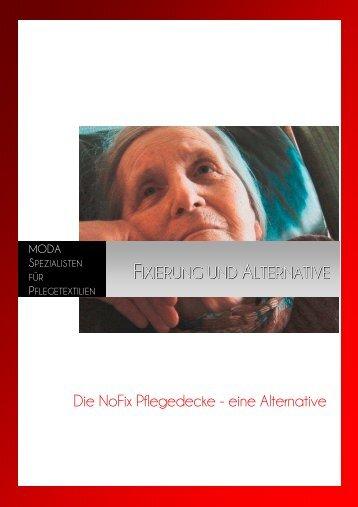 Fixierung und Alternative- die NOFIX Pflegedecke ... - Seniorentextil