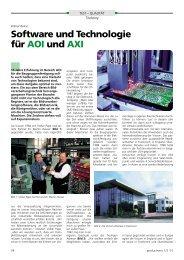 Software und Technologie für AOI und AXI - All-electronics.de