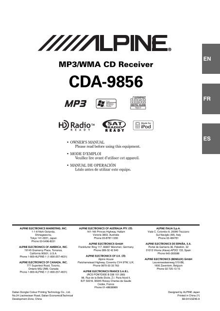 Alpine Cda 9856 Wiring Diagram