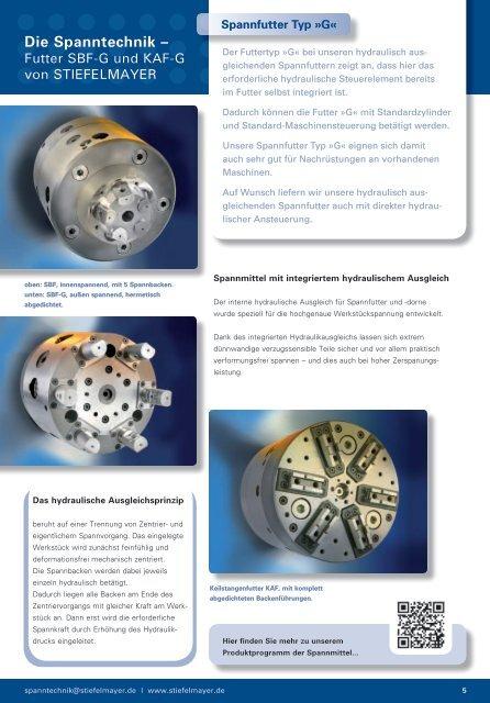 Download aktueller Prospekt Spannfutter SBF/KAF (Typ G)