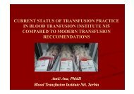 Blood Transfusion Institute of Blood Transfusion Institute of Niš ...