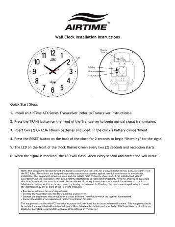 Wall clock models batteries the clock depot airtime wall clock lathem publicscrutiny Gallery
