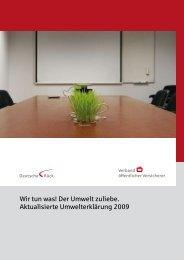 Umwelterklärung 2009 - Deutsche Rück