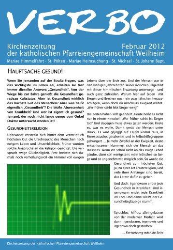 VERBO-02-12 - Katholische Pfarreiengemeinschaft Weilheim
