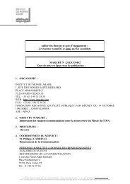 cahier des charges et acte d'engagement - Institut du Monde Arabe