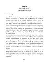 Kapitel 6 Derivationen und OT: die phonologischen Theorien 6. 1 ...