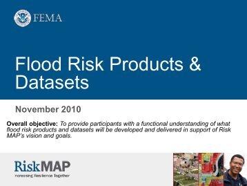 Flood Risk Products - Flood Risk Management Program