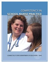 competency in SCHOOL NURSE PRACTICE - Connecticut State ...