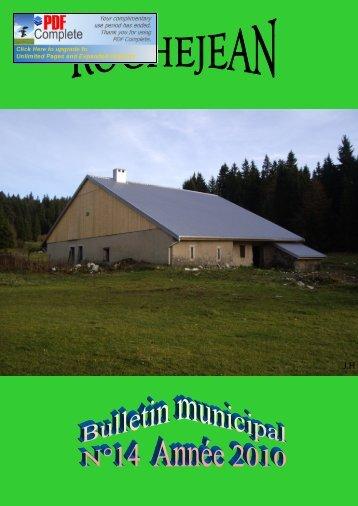 bullettin 2010.pub - Communauté de Communes du Mont d'Or & des ...