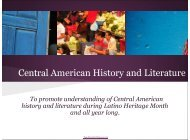 Central American History and Literature - Teaching for Change
