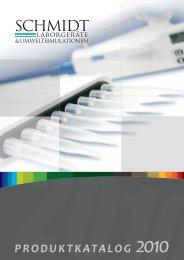 Der Produktkatalog zum Download als PDF - Schmidt Laborgeräte