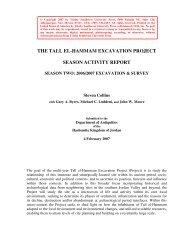 season activity report, 2007 - Tall el-Hammam Excavation Project ...