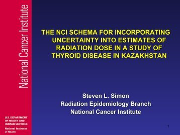 the nci schema for incorporating uncertainty into estimates of ...