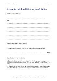 Vertrag über die Durchführung einer Mediation - HaraldKriegbaum.de