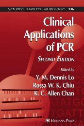 Clinical Applications of PCR Clinical Applications of PCR