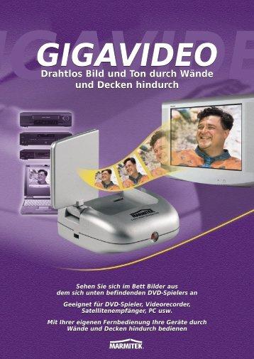 IGAVIDE GIGAVIDEO Drahtlos Bild und Ton durch Wände und Decken