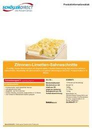 Zitronen-Limetten-Sahneschnitte - Geyer Food Konzept, Fresh-Food ...
