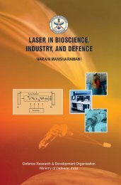 laser in bioscience, industry, and defence - DRDO
