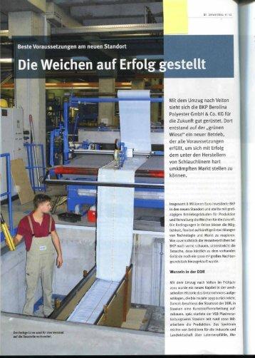 Die Weichen auf Erfolg gestellt - BKP Berolina Polyester GmbH ...