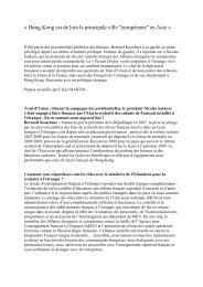 Interview B Kouchner - Consulat général de France à Hong Kong et ...