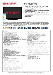LC-32LE340E-LCD TV 26 - 32 Zoll - Sharp Electronics