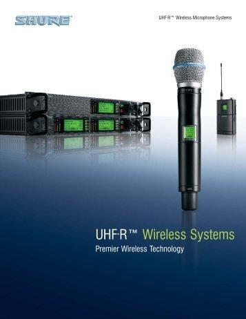 UHF-R™ Wireless Systems - Northern Sound & Light