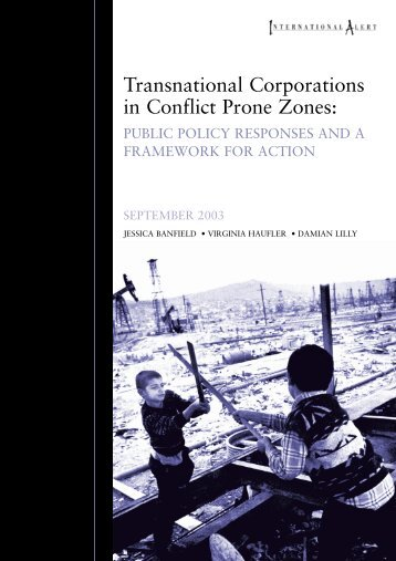 Transnational Corporations in Conflict Prone ... - International Alert