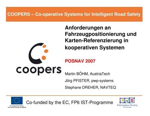 Anforderungen an Fahrzeugpositionierung und Karten ... - Coopers