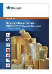 Gefahrstoffe Umgang mit Mineralwolle- Dämmstoffen - Uni Bonn