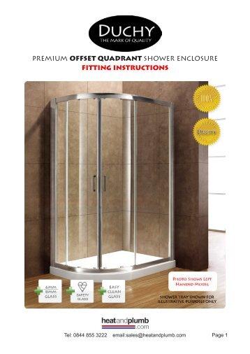 Premium Corner Entry Shower Enclosure Fitting Heat
