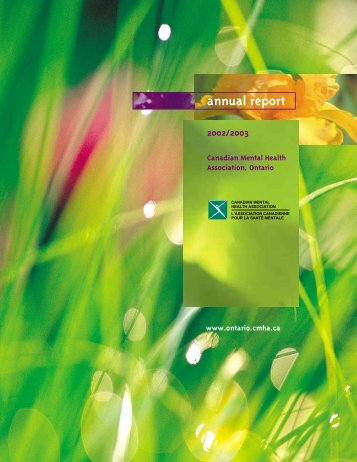 2002/2003 Annual Report - Canadian Mental Health Association