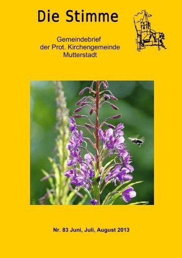 Stimme 83 - Protestantische Kirchengemeinde Mutterstadt