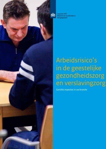 Arbeidsrisico's in de geestelijke gezondheidszorg en - Inspectie SZW