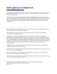 Saleh Abdul Aziz Al Rajhi from crazybillionaire.org - Deep Capture