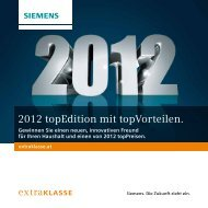 Extraklasse topEdition 2012 - Siemens