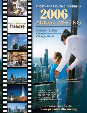 Meeting program - The Society for Pediatric Anesthesia