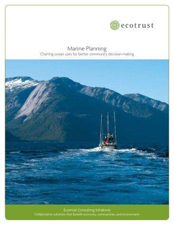 Marine Planning brochure - Ecotrust