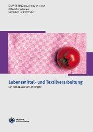 Lebensmittel- und Textilverarbeitung - Sichere Schule